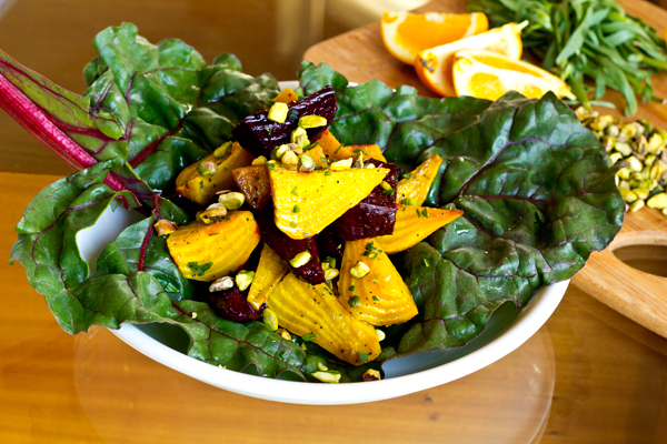 Warm Golden & Red Beet Salad