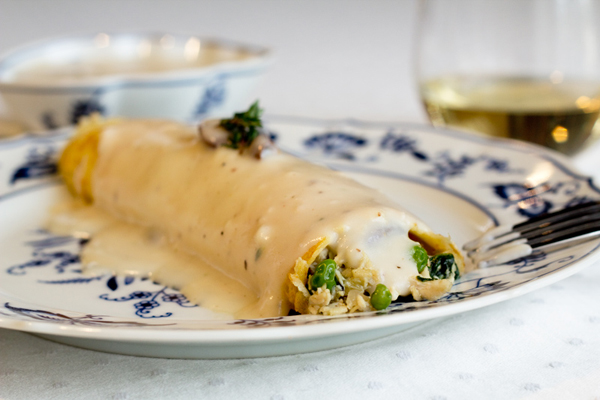 Savory Chicken Crepe