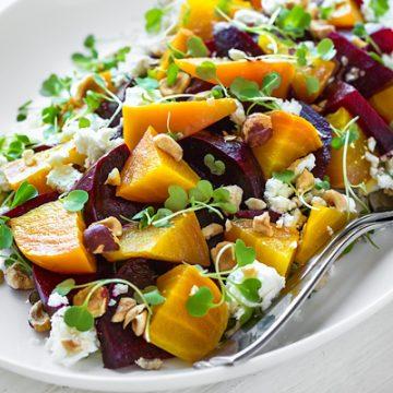 Roasted Beet Salad | thecozyapron.com