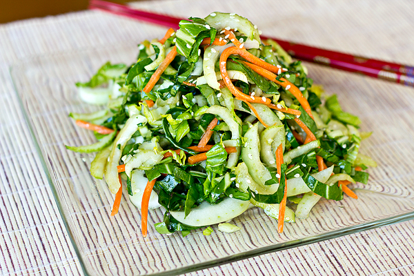 Bok Choy And Pineapple Salad With Peanut Dressing Recipe — Dishmaps