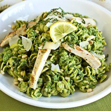 Pasta Salad with Lemon Basil Pesto