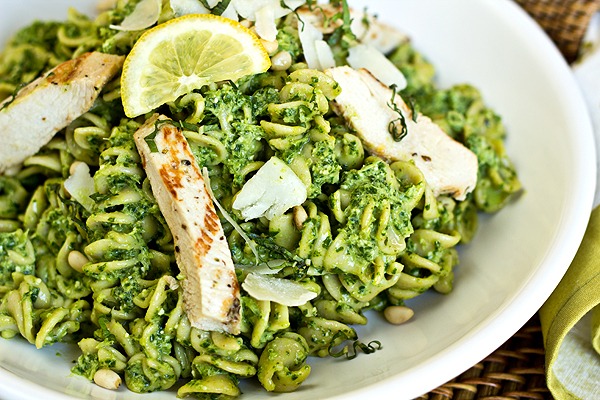 Pasta Salad with Lemon Basil Pesto