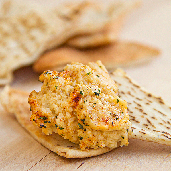 Humus with Baked Pita Chips