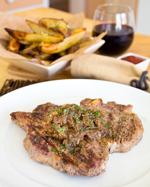 Pepper Crusted T-Bone Steak