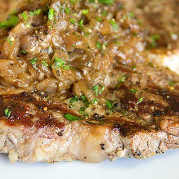 Pepper Crusted T-Bone Steak