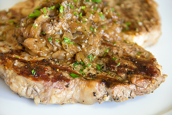 Pepper-Crusted T-Bone Steak, Momma Can Have Her Steak and Eat It Too