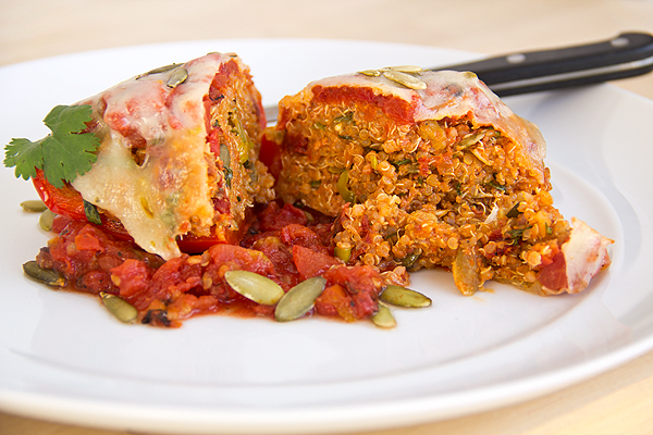 Stuffed Bell Peppers   thecozyapron.com