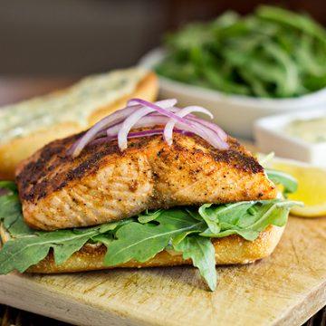 Cajun Salmon Sandwich