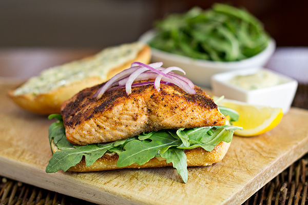 Spicy, Cajun Salmon Sandwiches, A Perfect Pick For Dad