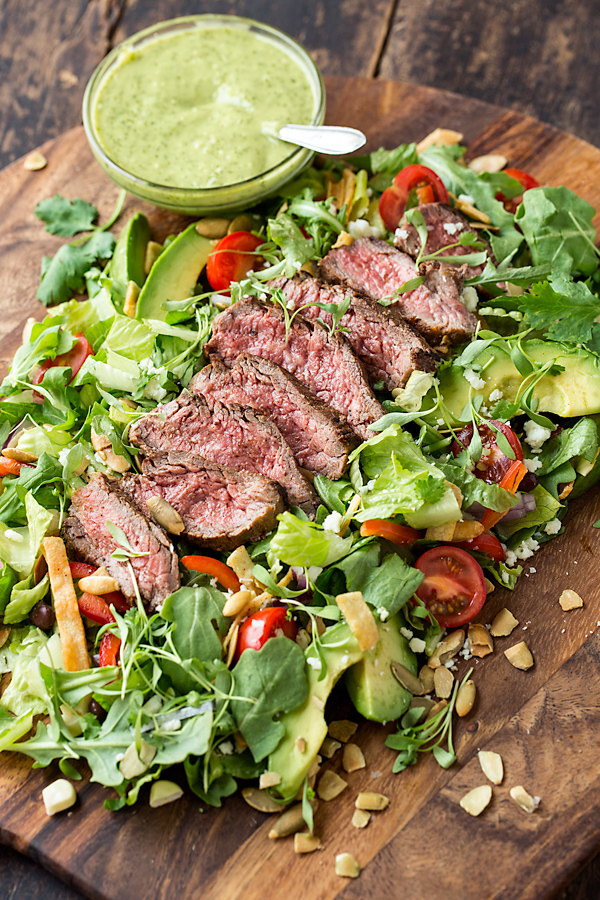 Steak Salad | thecozyapron.com