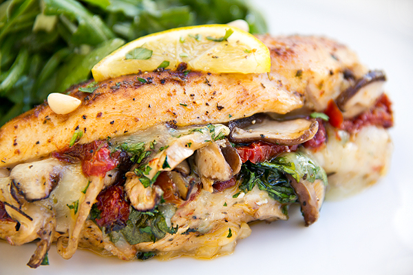 Stuffed Chicken Breast with Provolone, Spinach and Shitake ...