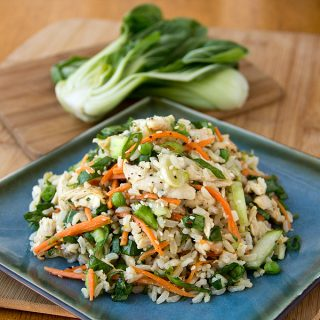 Asian-Style Brown Rice Salad with Chicken
