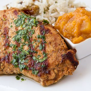 Grilled Pork Chops and Summer Peach Chutney, Peachy Keen