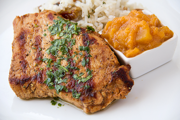 Grilled Pork Chops and Summer Peach Chutney, Peachy Keen post image