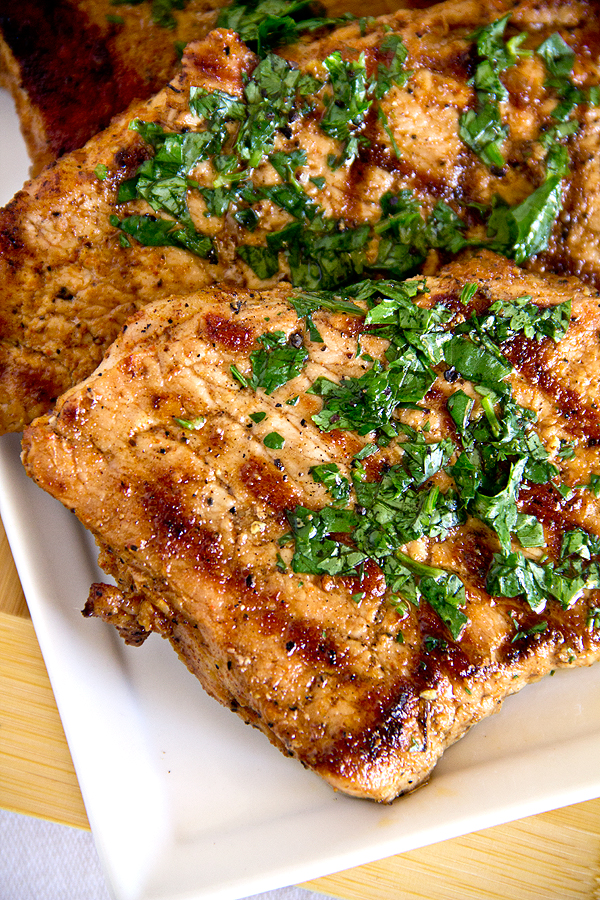 Pork Chops with Peach Chutney