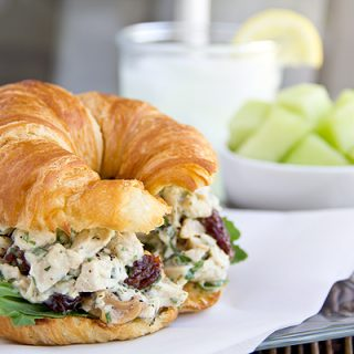 Chicken Salad on a Toasted Croissant