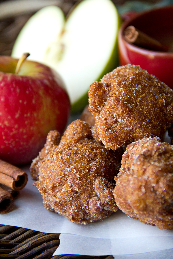 Apple Cider Hushpuppies with Cinnamon-Sugar