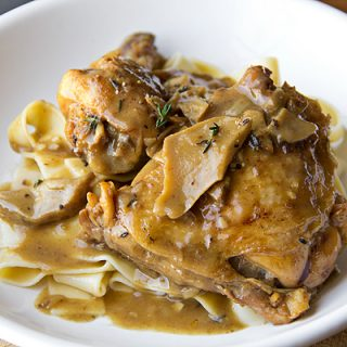 Braised Chicken In Porcini-Wine Sauce, To Thine Own Self Be True
