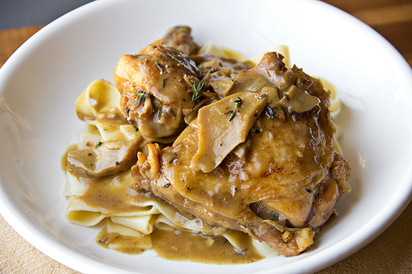 Post image for Braised Chicken In Porcini-Wine Sauce, To Thine Own Self Be True