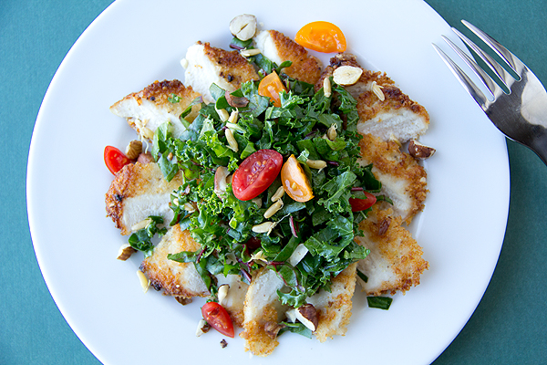 Parmesan-Crusted Chicken Breast Salad