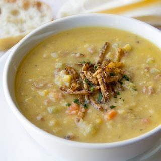 Cozy Cameo: Golden Split Pea Soup, Handed Over