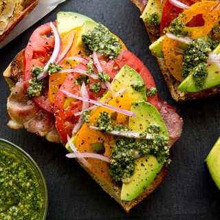 Cozy Cameo: Crispy Prosciutto And Avocado Salad Toasts, A Farewell To Summer