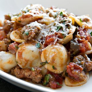 Orecchiette With Eggplant And Pork Ragu, The Little Ears That Comfort
