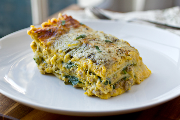Autumn Lasagna | thecozyapron.com