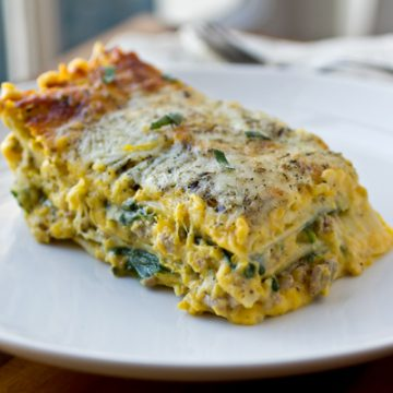 Butternut Squash Lasagna | thecozyapron.com