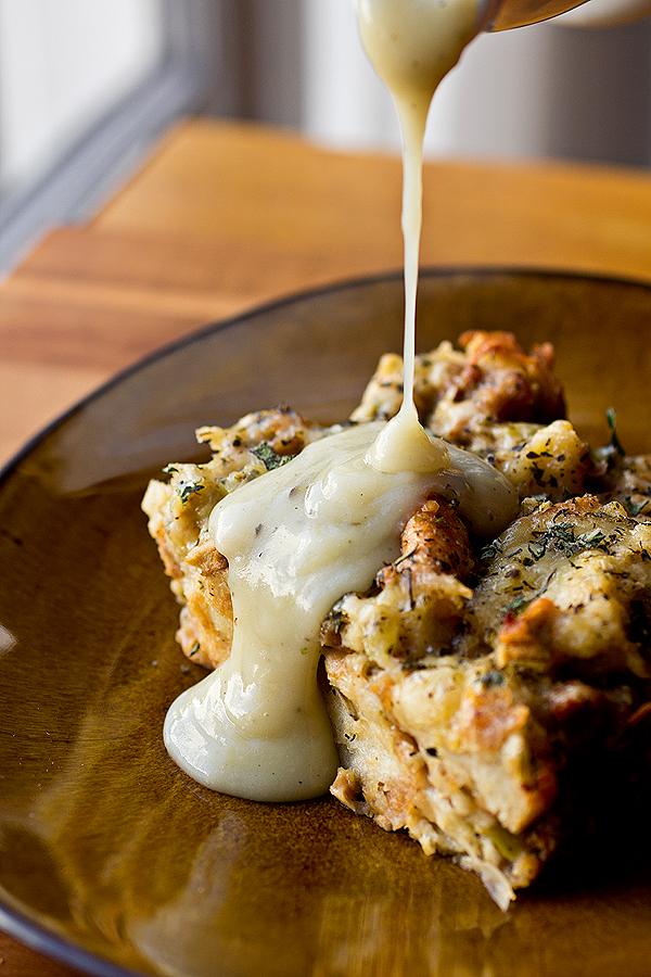 Golden Torn-Bread Stuffing   thecozyapron.com
