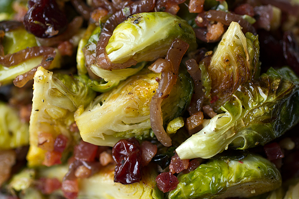 Baked Brussels Sprouts with Cider Glaze | thecozyapron.com