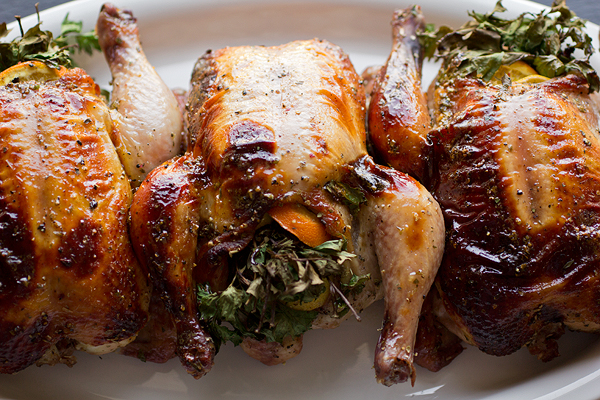 A Cozy Holiday: Herb Bouquet-Stuffed Cornish Hens, And The Little Lights All Around post image