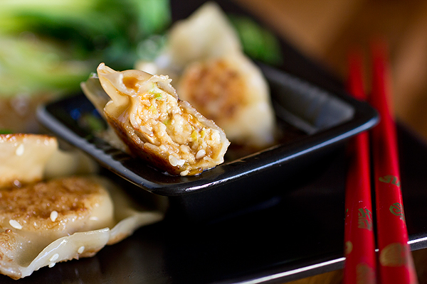 Gingered-Chicken Pot Stickers