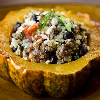 A Cozy Resolution: Oh, To Be Like The Roasted & Stuffed Acorn Squash
