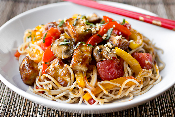A Cozy Resolution: Not Missing A Meat With Thai-Style Crispy Tofu & Veg Over Noodles post image