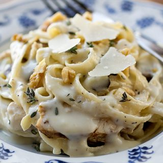 A Cozy Pasta: Fettucini in Parmesan-Roasted Garlic Cream Sauce, Comfort For The Melancholy Heart