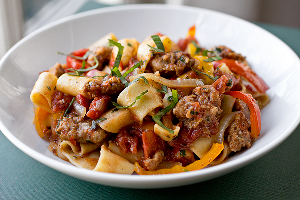"Post image for A Cozy Pasta: Italian ""Drunken"" Noodles, And Shaking Things Up A Bit"