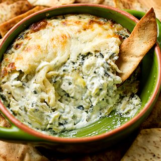 A Cozy Appetizer: Kale & Artichoke Dip With Five Cheeses, Outrageously Delicious