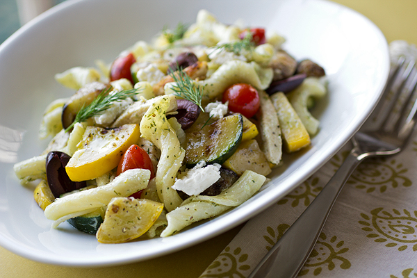 A Cozy Pasta: Warm Mediterranean Pasta Salad and Imagining A Little Taste Of Heaven