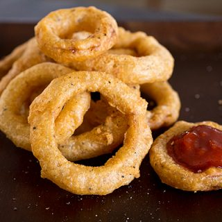 A Cozy Appetizer: Double Crunch, Sweet Maui Onion Rings, Definitely Worth Crying Over