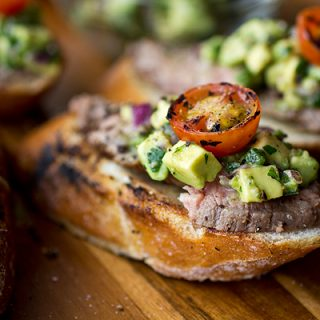 A Cozy Appetizer: Grilled Steak & Avocado Salsa Crostini, And Stealing A Bite From A Still Moment