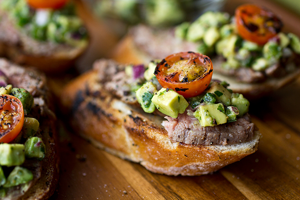A Cozy Appetizer: Grilled Steak & Avocado Salsa Crostini, And Stealing A Bite From A Still Moment post image