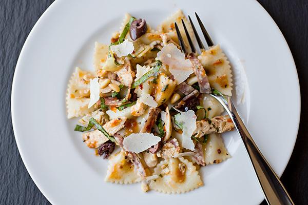 Fiery Italian Bowtie Pasta Salad