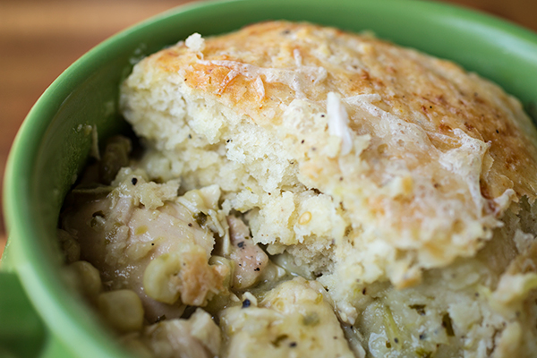Chicken Chili Verde Pot Pie