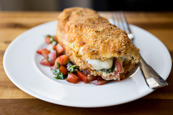 Crispy Stuffed Chicken Caprese