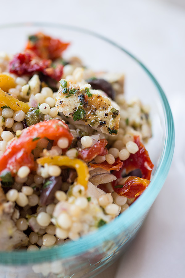 Grilled Albacore Tuna & Toasted Israeli Couscous Salad