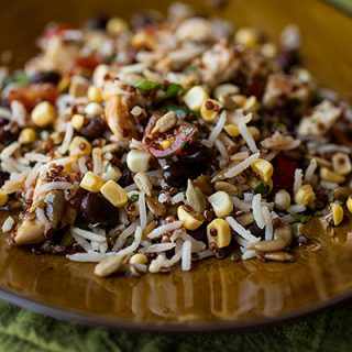 A Cozy Lunchbox: Southwestern Red Quinoa & Rice Salad, Revitalizing From The Inside Out