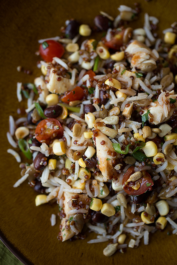 Red Quinoa and Rice Salad