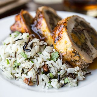 Cozy Chicken: Apricot-Whiskey Glazed Chicken Roulade, And Taking A Turn For The Spirited