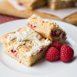 "Raspeberry ""Platinum"" Blondies"